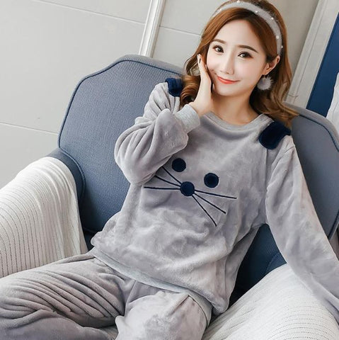 Image of Cute Kitty Pyjamas Set