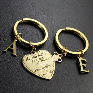 Customizable Couple Keychains
