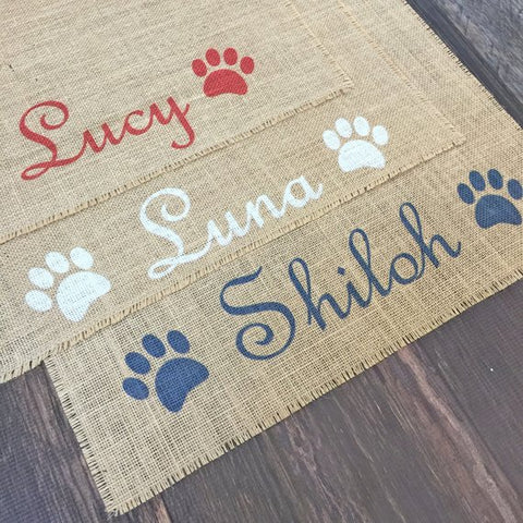 Customised Dog Placemat