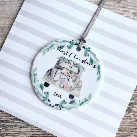 Image of Personalized First Christmas Decoration Ornament