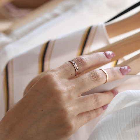 Image of Fashionable Personalized Ring