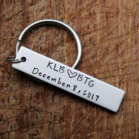 Image of Personalized Lovers Key Chain
