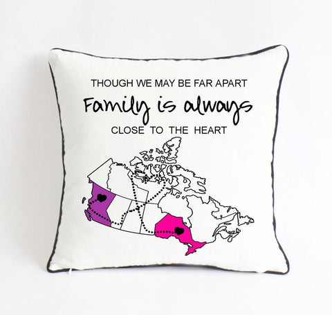 Image of Lovely Personalized Family Cushion