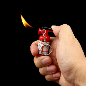 Fire Extinguisher - Lighter With Keychain