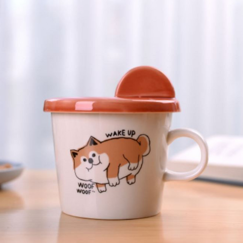 Image of Lovely Dog Ceramic Cup