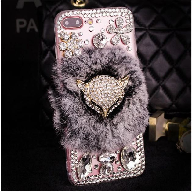 Bejeweled Fox Head iPhone Case