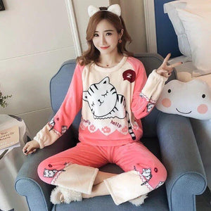 Cute Kitty Pyjamas Set