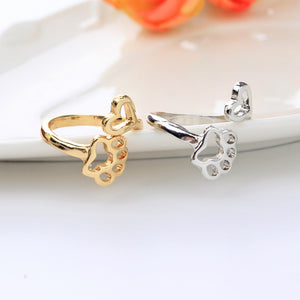 Paw Love Wrap Ring