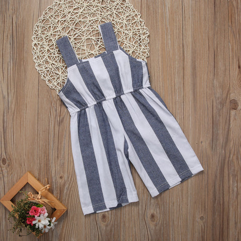 Image of Bow-Tie Striped Jumpsuit