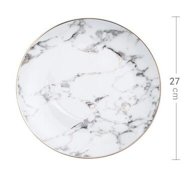 Premium Gold Lining Marble Plate