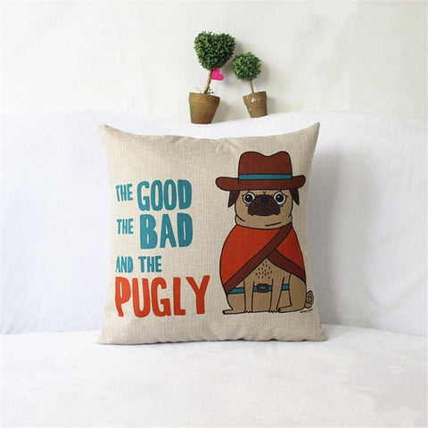 Image of Punny Puggy Pillows