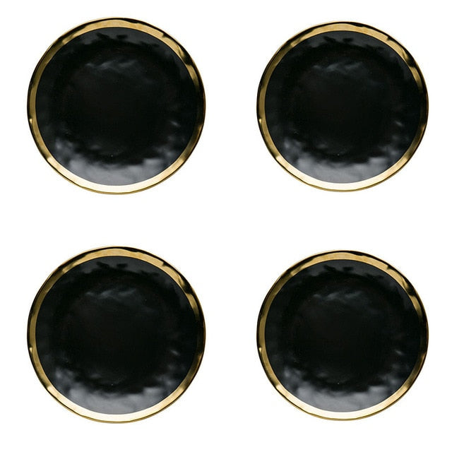 Exquisite Black & Gold Dining Ware