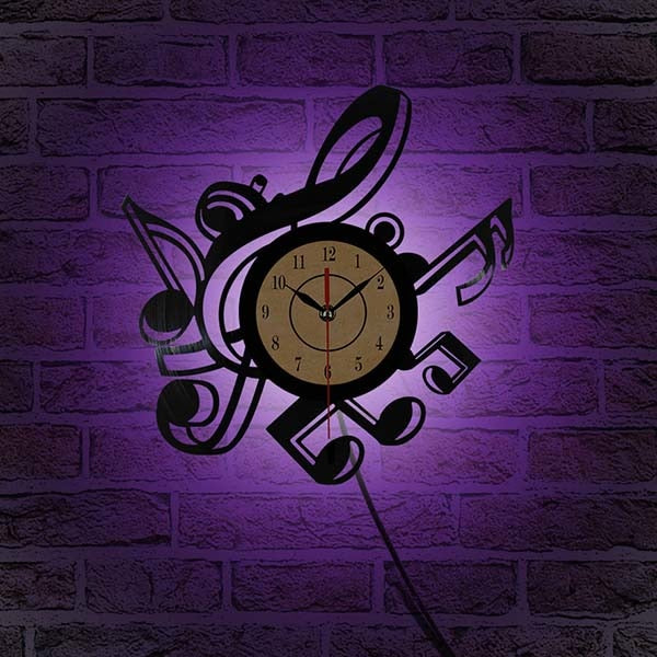 Retro Vinyl Record LED Wall Clock