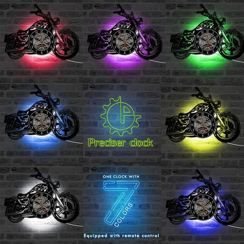 Image of Retro LED Bike Wall Clock