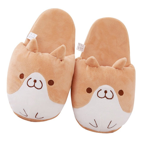 Image of Cozy Shiba Plush Slippers