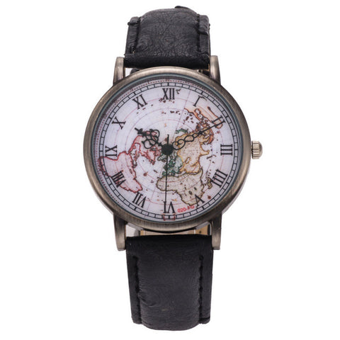 Image of Vintage World Map Watch