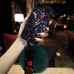 Stylish Glitter Rose Phone Case