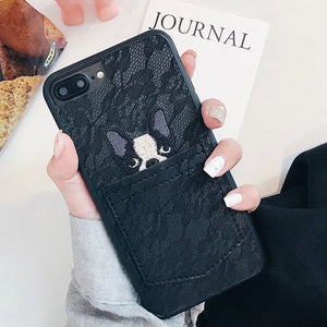 Bulldog Lace Pocket Case