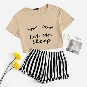 """Let Me Sleep"" Comfy Pajama Set"