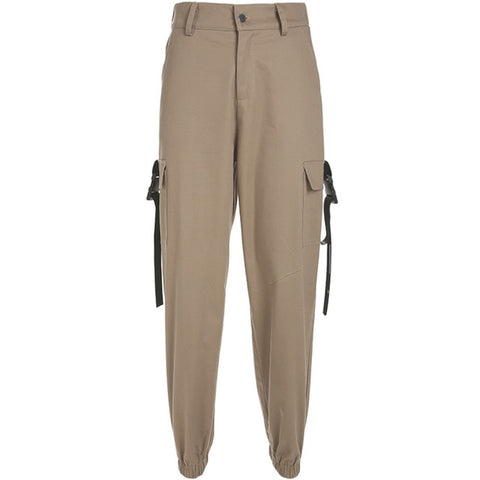 Image of Chic High Waist Cargo Pants