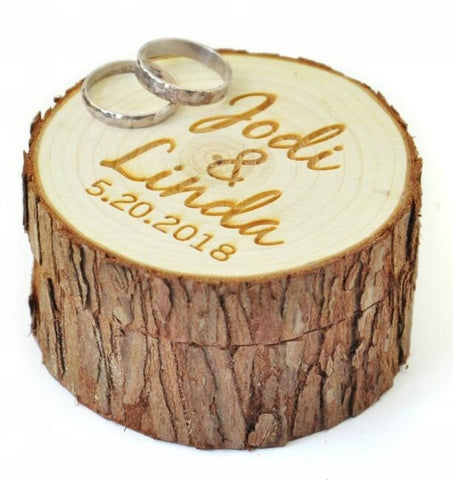 Customizable Wooden Log Ring Box