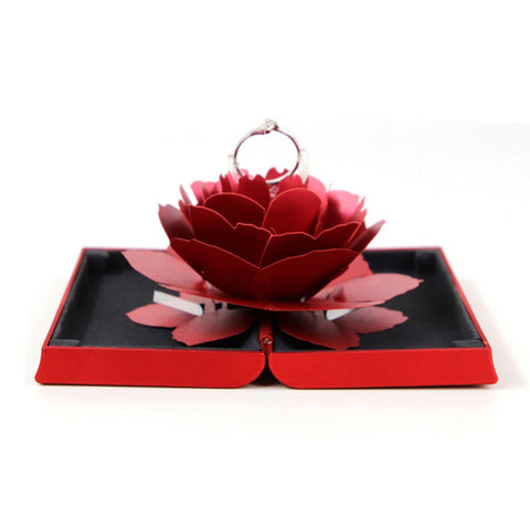 Image of Elegant Pop Up Rose Ring Box