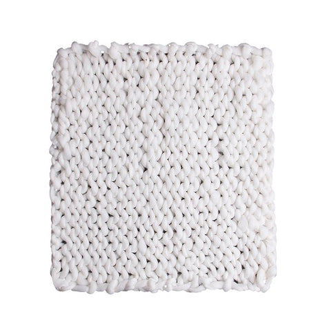 Image of Chunky Knitted Throw Blanket