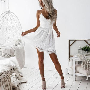 Ballet-Inspired Backless Lace Dress