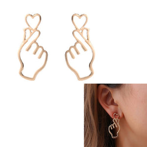 Minimalistic Heart Earrings