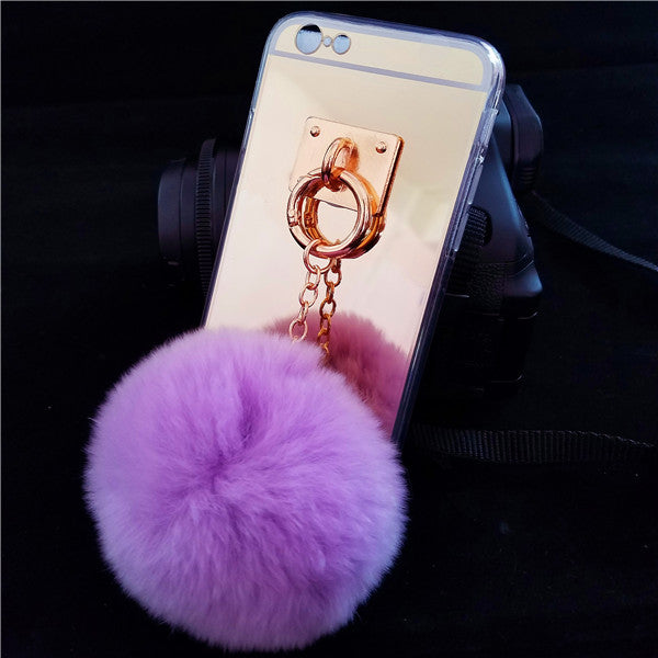 Luxurious Mirrored Fur Case