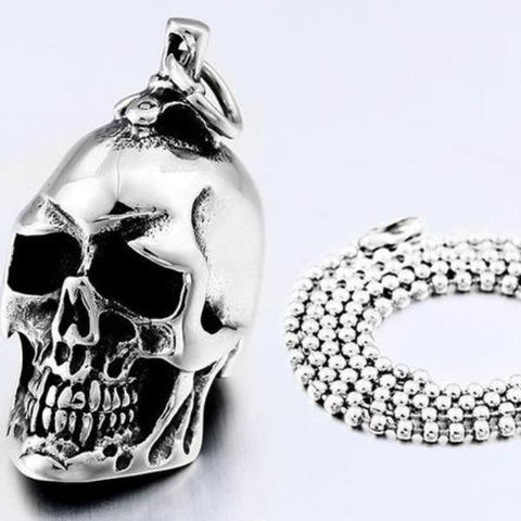 Image of Steel Soldier Skull Necklace