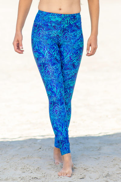Bora Leggings - blue balla coralla