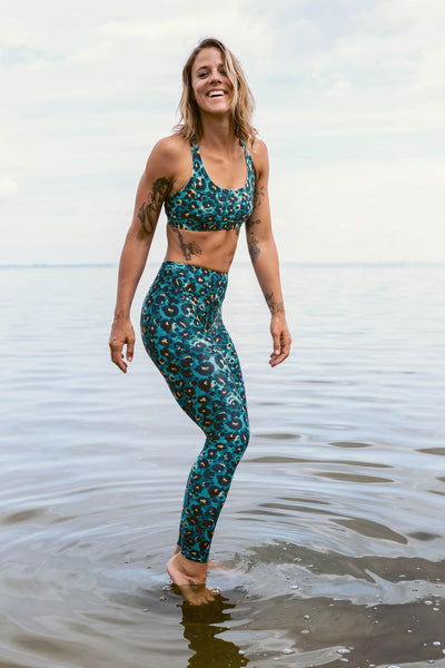 Bora Leggings - mint leo