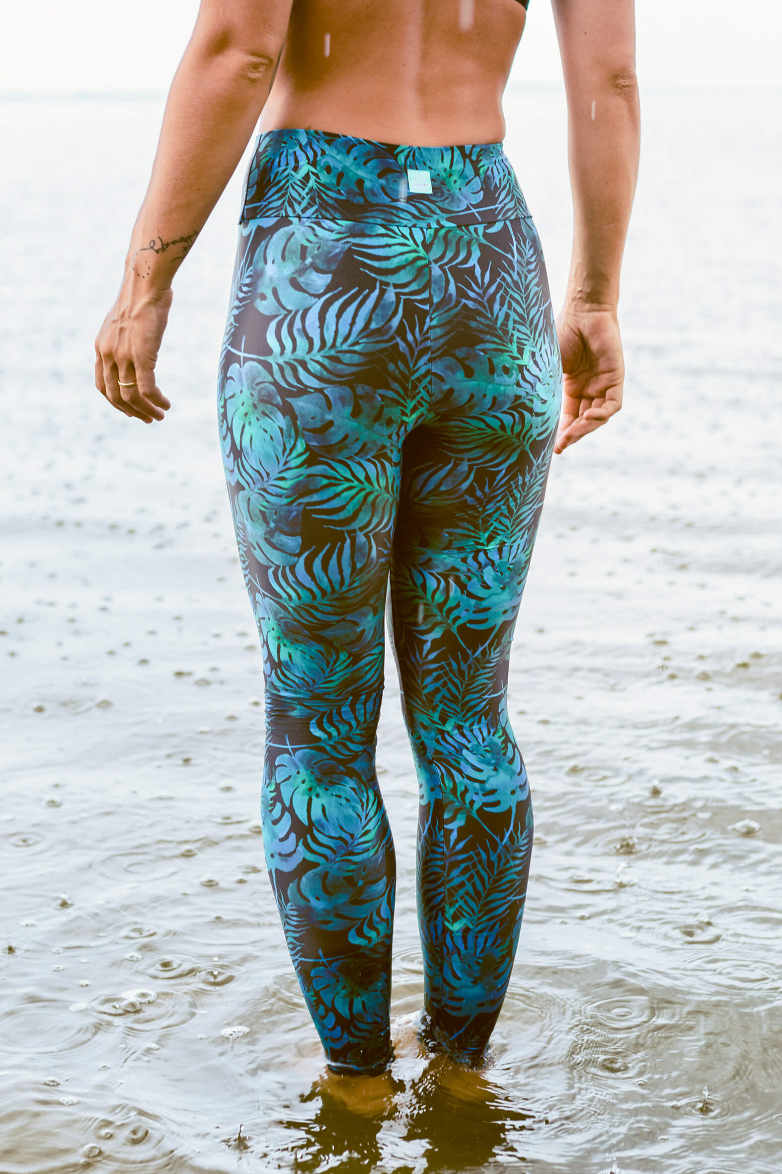 Bora Leggings - petrol banana