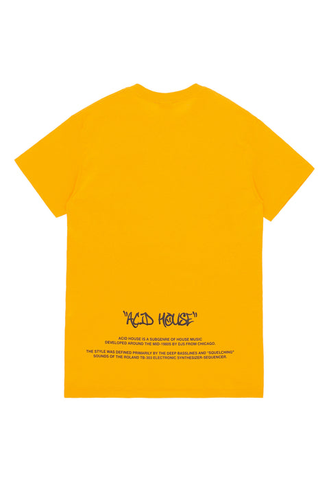 Acid House Smile T-Shirt yellow
