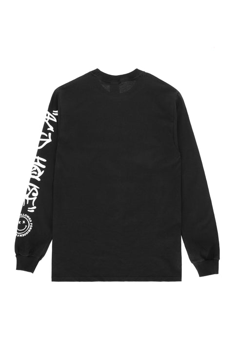Acid House Smile Longsleeve T-Shirt black
