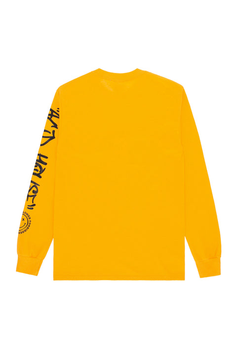 Acid House Smile Longsleeve T-Shirt yellow