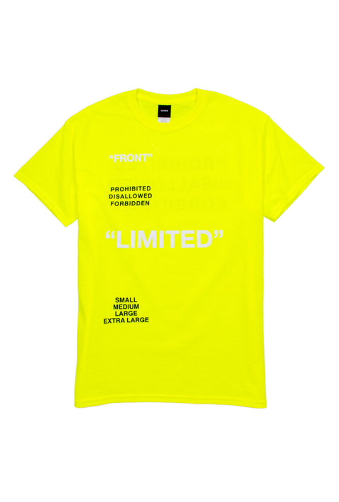 Limited Neon Yellow tee