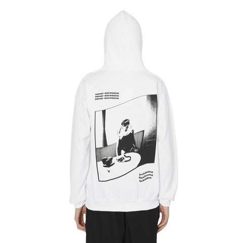 Decadence Hooded Sweatshirt White
