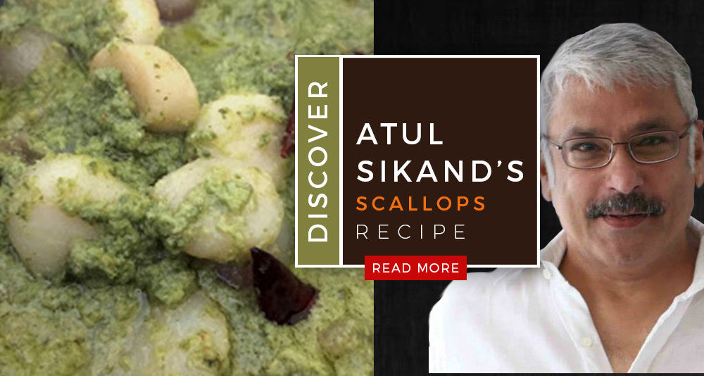 Atul Sikand's Scallops & Shallots in Green Curry