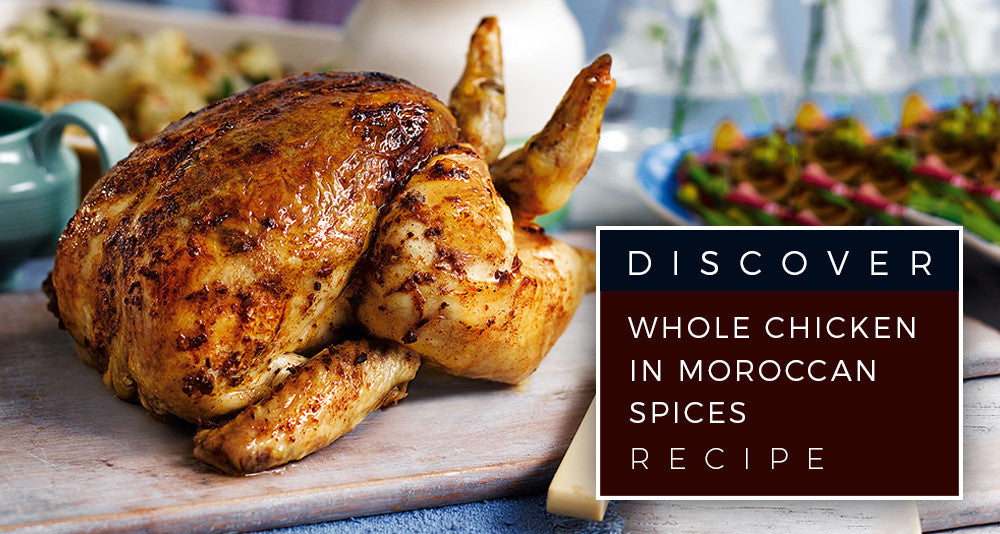 Whole chicken in Moroccan spices