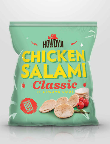 Howdyji - Chicken Salami Plain (400g) - Lion Fresh