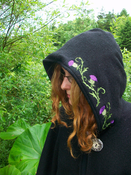 Thistles Arran Hooded Cape