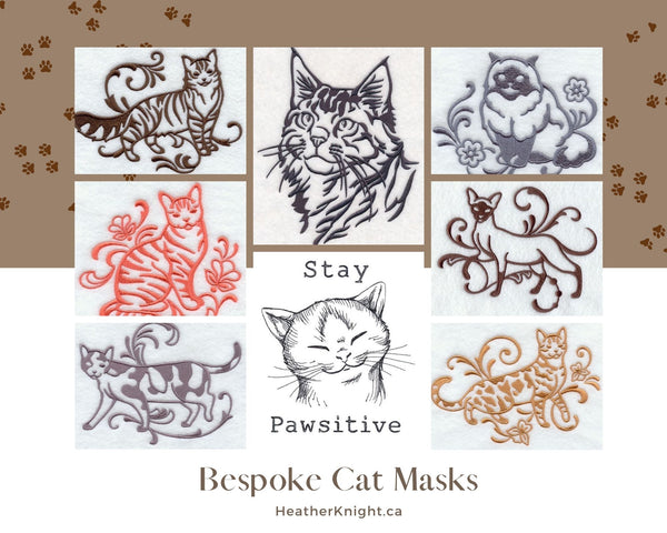 Bespoke Fitted Masks- Cats