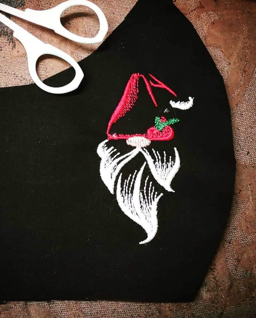 Embroidered Chritmas Masks