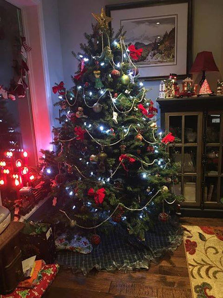Cape Breton tartan tree skirt