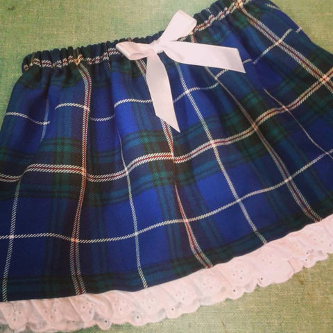 Lace Trimmed Skirt-Clan and speciality tartans
