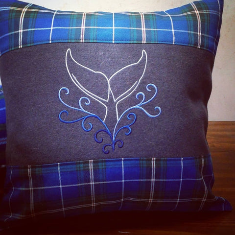 Whale Tail Tartan Pillow