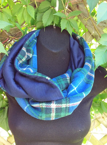 Knit Lined Fleece Infinity Scarf