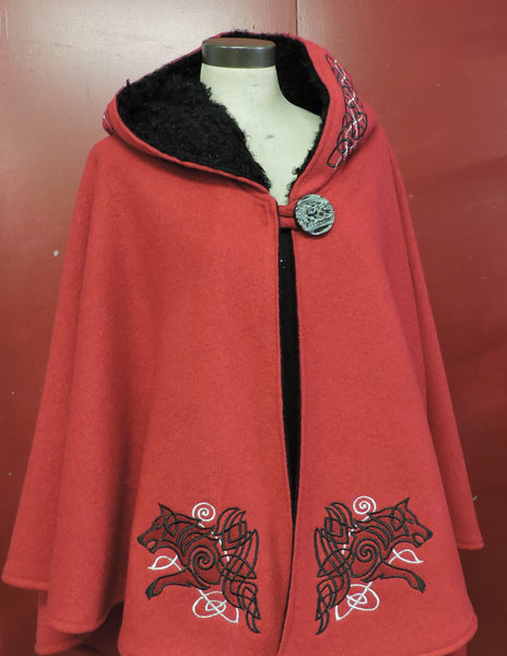 Celtic Embroidered Cape